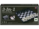 "3 in 1 Magnetic Chess Checkers & Backgammon - 14""-chess-The Games Shop"