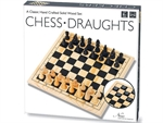 Chess and Draughts Set - Solid Wood-chess-The Games Shop