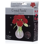 3D Crystal Puzzle - Red Roses-young at heart-The Games Shop