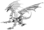 Metal Earth Iconx - Silver Dragon-construction-models-craft-The Games Shop