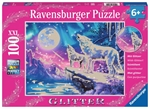 Ravensburger 100 piece - Glitter Twilight Howl-kids-The Games Shop