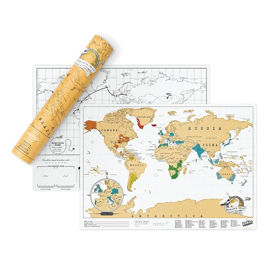 Young Australia Map.Scratch Map Travel Size