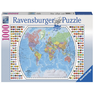 Ravensburger - 1000 piece - Political World Map with Flags