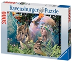 Ravensburger - 3000 piece - Lady of the Forest-jigsaws-The Games Shop