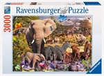 Ravensburger - 3000 piece - African Animal World-jigsaws-The Games Shop