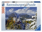 Ravensburger - 3000 piece - Neuschwanstein in Winter-2000+-The Games Shop