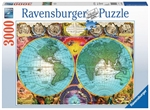 Ravensburger - 3000 piece - Antique World Map-2000+-The Games Shop