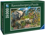 Ravensburger - 18000 piece - At the Waterhole-2000+-The Games Shop