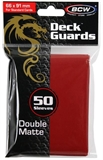 Standard Card Sleeves - BCW -50  Matte Red-trading card games-The Games Shop