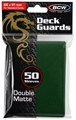 Standard Card Sleeves - BCW - 50 Matte Green-trading card games-The Games Shop