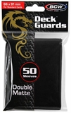 Standard Card Sleeves - BCW - 50 Matte Black-trading card games-The Games Shop