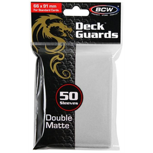 Standard Card Sleeves - BCW - 50 Matte White