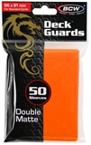 Standard Card Sleeves - BCW - 50 Matte Orange-trading card games-The Games Shop