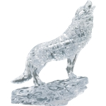 3D Crystal Puzzle - Silver Wolf-young at heart-The Games Shop