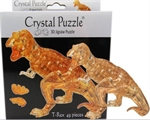 3D Crystal Puzzle - Brown T-Rex-young at heart-The Games Shop