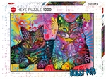 Heye - 1000 piece Jolly Pets - Devoted 2 Cats-jigsaws-The Games Shop
