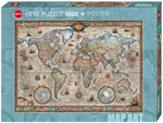 Heye - 1000 piece Map Art - Retro World-jigsaws-The Games Shop
