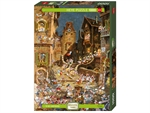 Heye - 1000 piece Romantic Town - By Night-jigsaws-The Games Shop