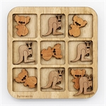 Tic Tac Toe - Koala and Kangaroo-traditional-The Games Shop