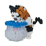Nanoblock - Medium Fishbowl Cat-construction-models-craft-The Games Shop