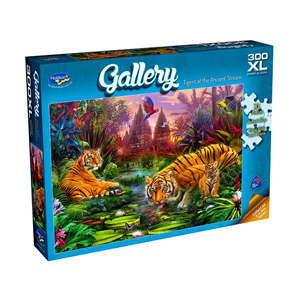 Holdson - 300 piece XL Gallery 5 - Tigers at the Ancient Stream