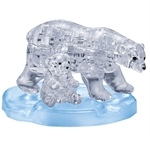 3D Crystal Puzzle - Polar Bear and Cub-jigsaws-The Games Shop