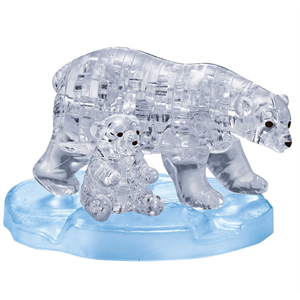 3D Crystal Puzzle - Polar Bear and Cub