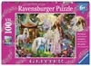 Ravensburger - 100 piece - Glitter Princess with Unicorn-jigsaws-The Games Shop