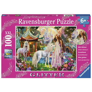 Ravensburger - 100 piece - Glitter Princess with Unicorn