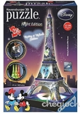 Ravensburger - 3D Disney - Mickey and Minnie Eiffel Tower Night-jigsaws-The Games Shop