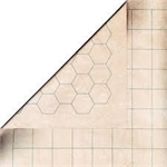 "Chessex Reversible Battlemat - 1"" Squares and Hexes Small-gaming-The Games Shop"
