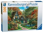Ravensburger - 500 piece - Cottage in Autumn-jigsaws-The Games Shop