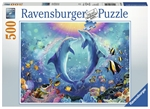 Ravensburger - 500 piece - Dancing Dolphins-jigsaws-The Games Shop