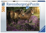Ravensburger - 500 piece - Ponies in the Flowers-jigsaws-The Games Shop