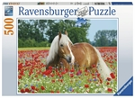 Ravensburger - 500 piece - Horse in Poppy Field-jigsaws-The Games Shop