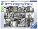 Ravensburger - 1500 piece - New York Cabs-jigsaws-The Games Shop