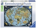 Ravensburger - 1500 piece - Cartoon Earth-jigsaws-The Games Shop