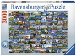 Ravensburger - 3000 piece - 99 Beautiful Places in Europe-jigsaws-The Games Shop