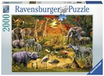 Ravensburger - 2000 piece - Gathering at the Waterhole-jigsaws-The Games Shop