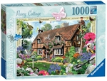 Ravensburger - 1000 piece - Country Cottage, Peony-jigsaws-The Games Shop