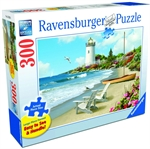 Ravensburger - 300 piece Large Format - Sunlit Shores-jigsaws-The Games Shop
