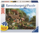 Ravensburger - 300 piece Large Format - Cottage on a Lake-jigsaws-The Games Shop