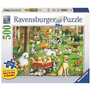 Ravensburger - 500 piece Large Format - At the Dog Park