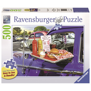 Ravensburger - 500 piece Large Format - Drive-Thru Route 66