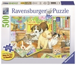 Ravensburger - 500 piece Large Format - Pets on Tour-jigsaws-The Games Shop