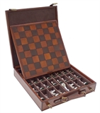 "Chess Set - Leather "" Norwood""-chess-The Games Shop"