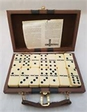 Dominoes - Double 6 - Attache Case (with spinners)-traditional-The Games Shop
