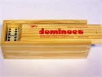 Dominoes - Double 6 - Wooden Box-traditional-The Games Shop