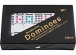 Dominoes - Double 9 Coloured Dots - Vinyl Case-traditional-The Games Shop