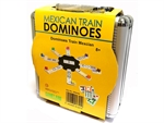 Dominoes - Double 12 Mexican Train - Aluminium Case-traditional-The Games Shop